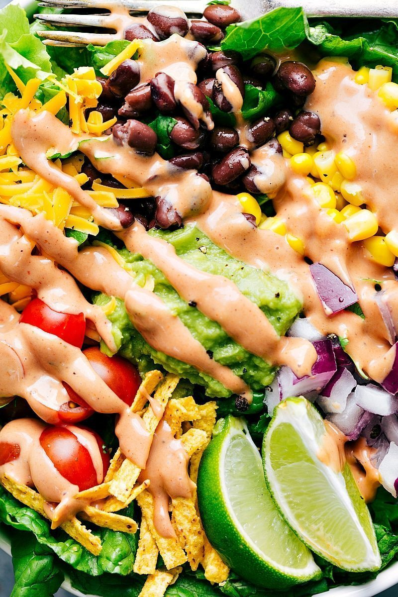 BBQ Chicken Salad: 3 easy dinners made from ONE rotisserie chicken and similar ingredients! chelseasmessyapron.com