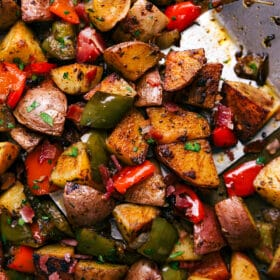 One Pan Breakfast Potatoes and Bacon