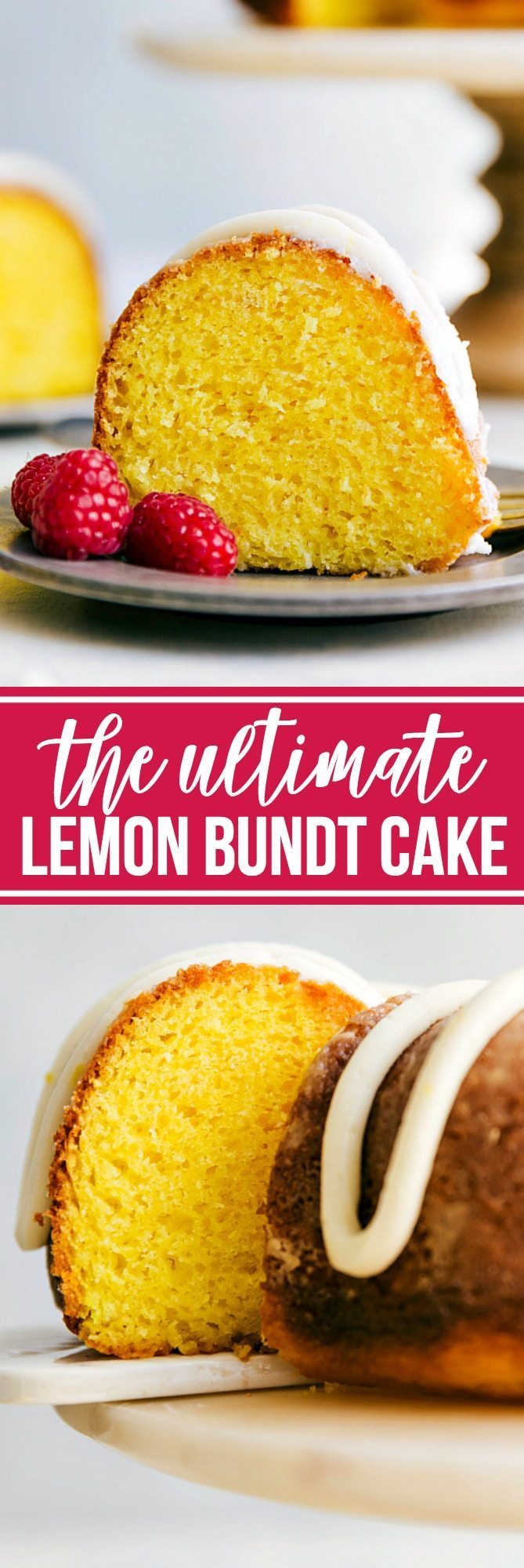 The BEST EVER Lemon Bundt Cake with an amazing Lemon Buttercream Frosting! Recipe from chelseasmessyapron.com