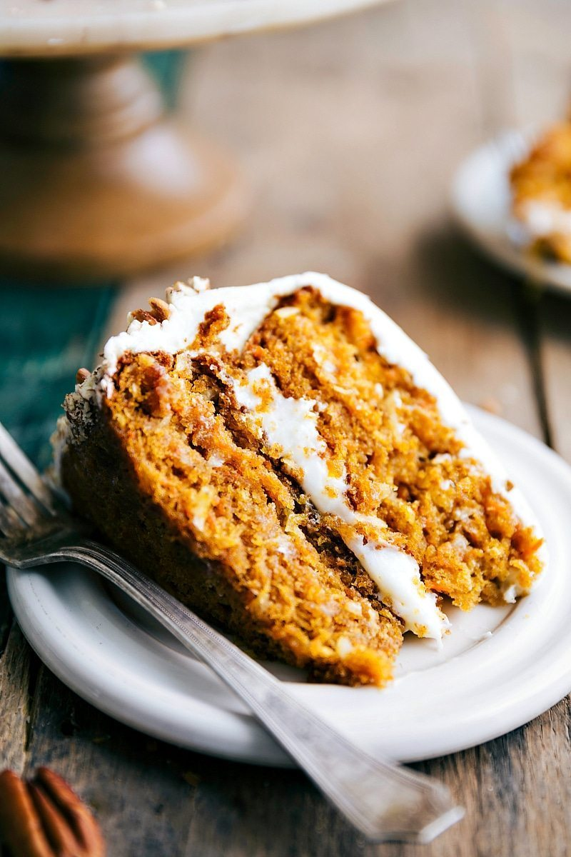The BEST EVER, raved about Carrot Pumpkin Cake! Delicious, moist, easy to make! I chelseasmessyapron.com