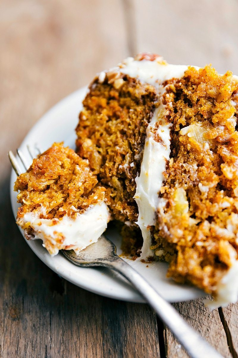 The BEST EVER, raved about Carrot Pumpkin Cake! Delicious, moist, easy to make! I Recipe via chelseasmessyapron.com