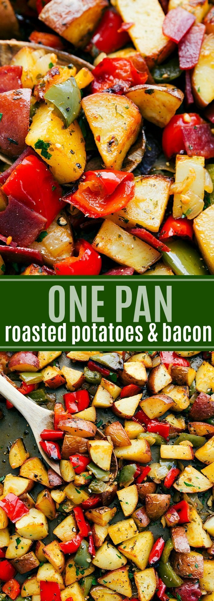 The ultimate BEST EVER roasted breakfast potatoes and bacon. All on ONE PAN! Read the rave reviews!! via chelseasmessyapron.com