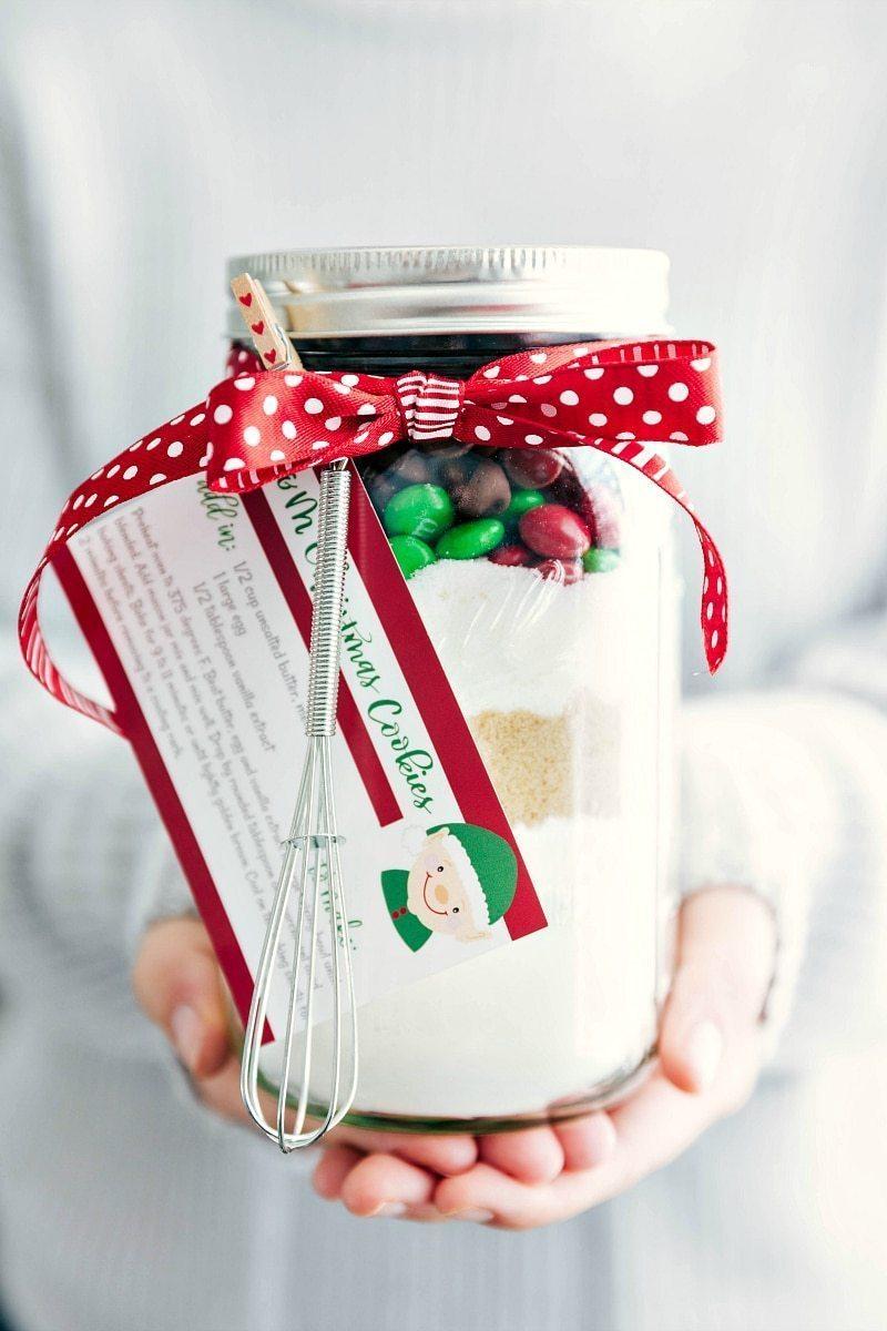Mason Jar Gift: M&M Christmas Cookies (Free Printable) | Chelsea\'s ...