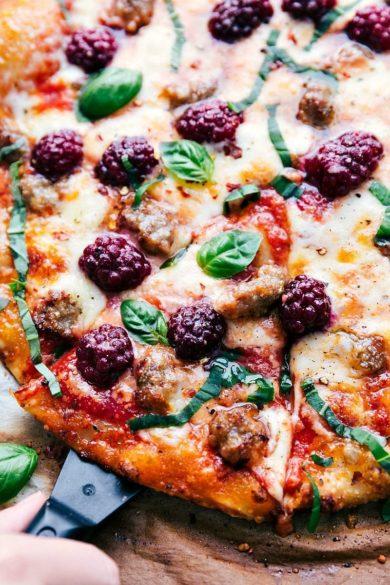 30-Minute Blackberry Basil Pizza