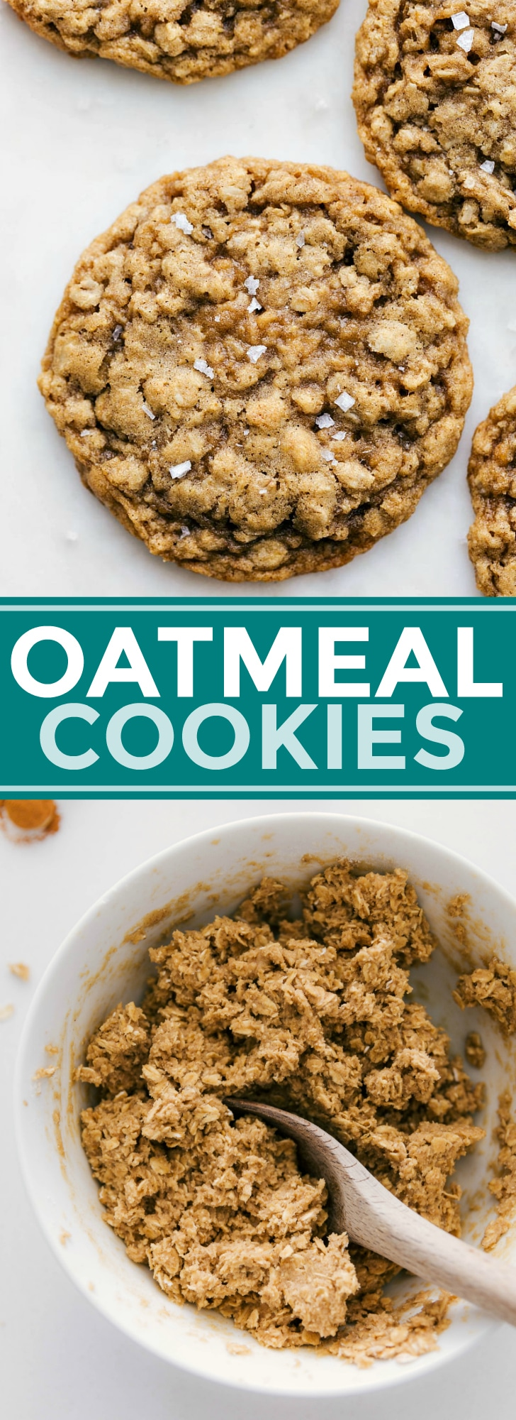 The ultimate BEST EVER soft, chewy, and flavorful oatmeal cookies! Enjoy these cookies as is or learn how to add in raisins, nuts, and/or chocolate chips! via chelseasmessyapron.com #oatmeal #cookies #cookie #recipe #easy #quick #christmas #exchange