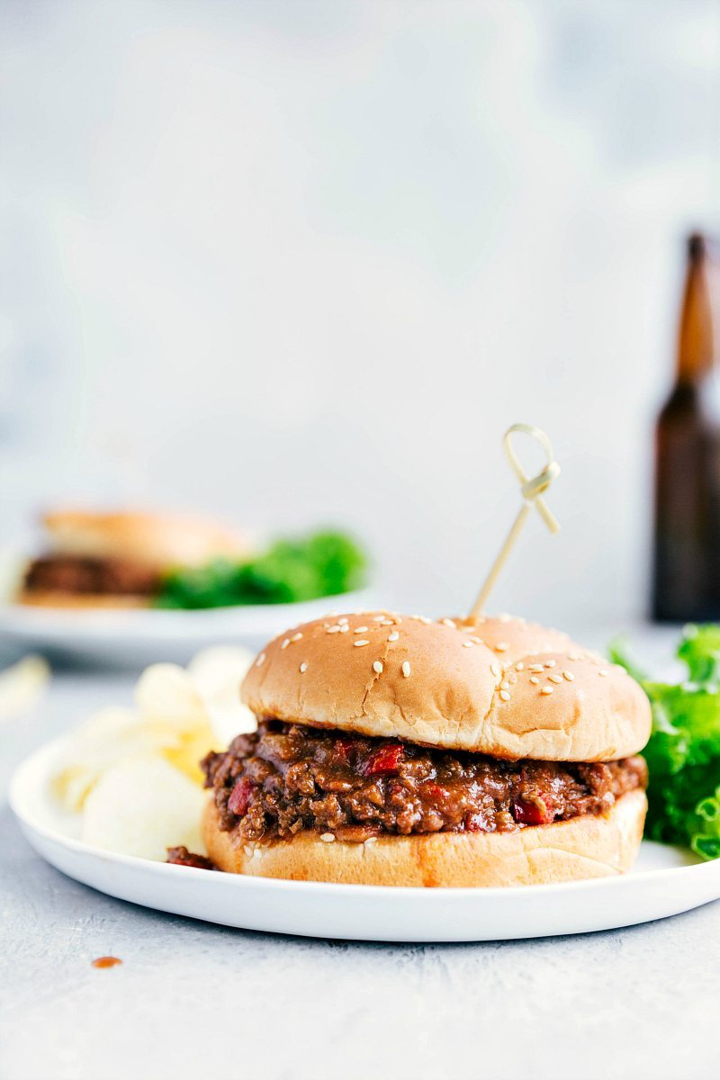 Image of the crockpot sloppy joes on a plate