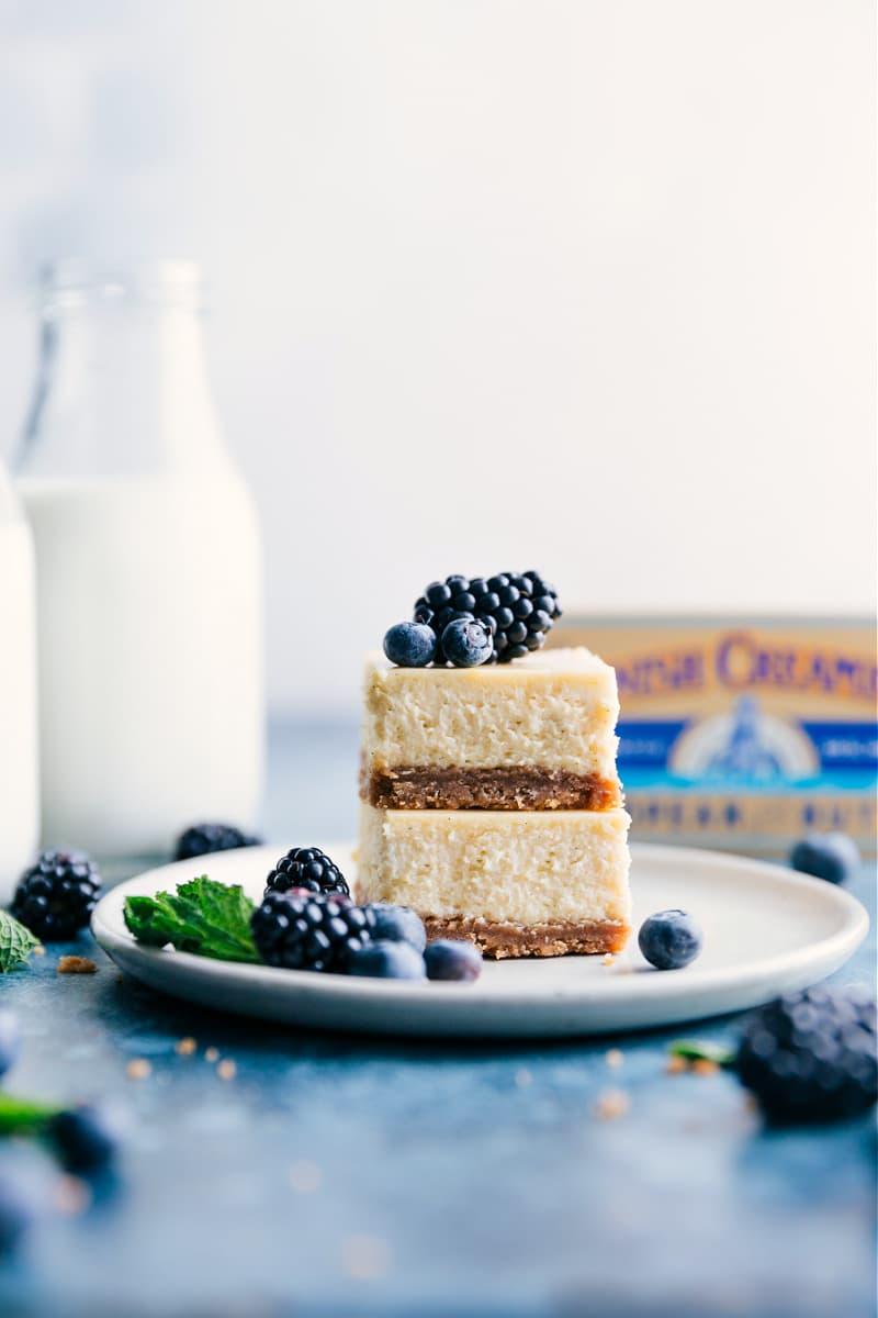 Image of the stacked cheesecake bars
