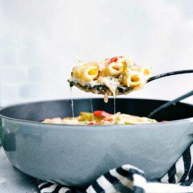 Baked Ravioli Lasagna (One Skillet!)