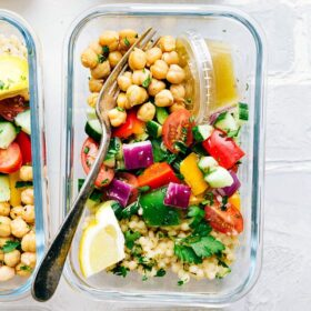 Greek Couscous Salad (Meal Prep Option)