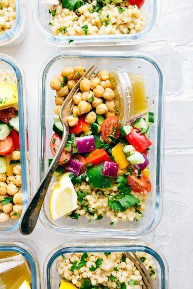 Greek Couscous Salad (Meal Prep Option)