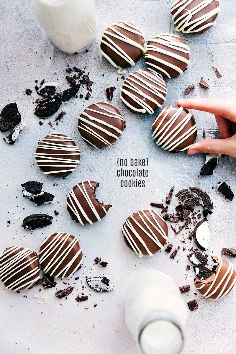 No Bake Oreo Truffle Cookies