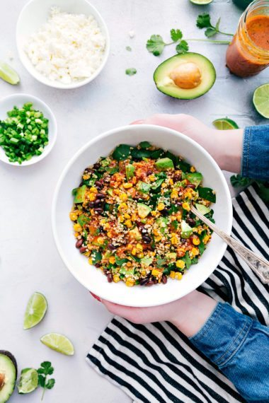 Mexican Avocado and Corn Quinoa Salad