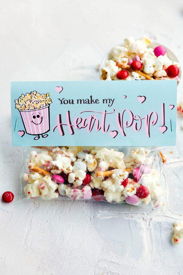 photo regarding Popcorn Bag Printable identify White Chocolate Popcorn Mixture
