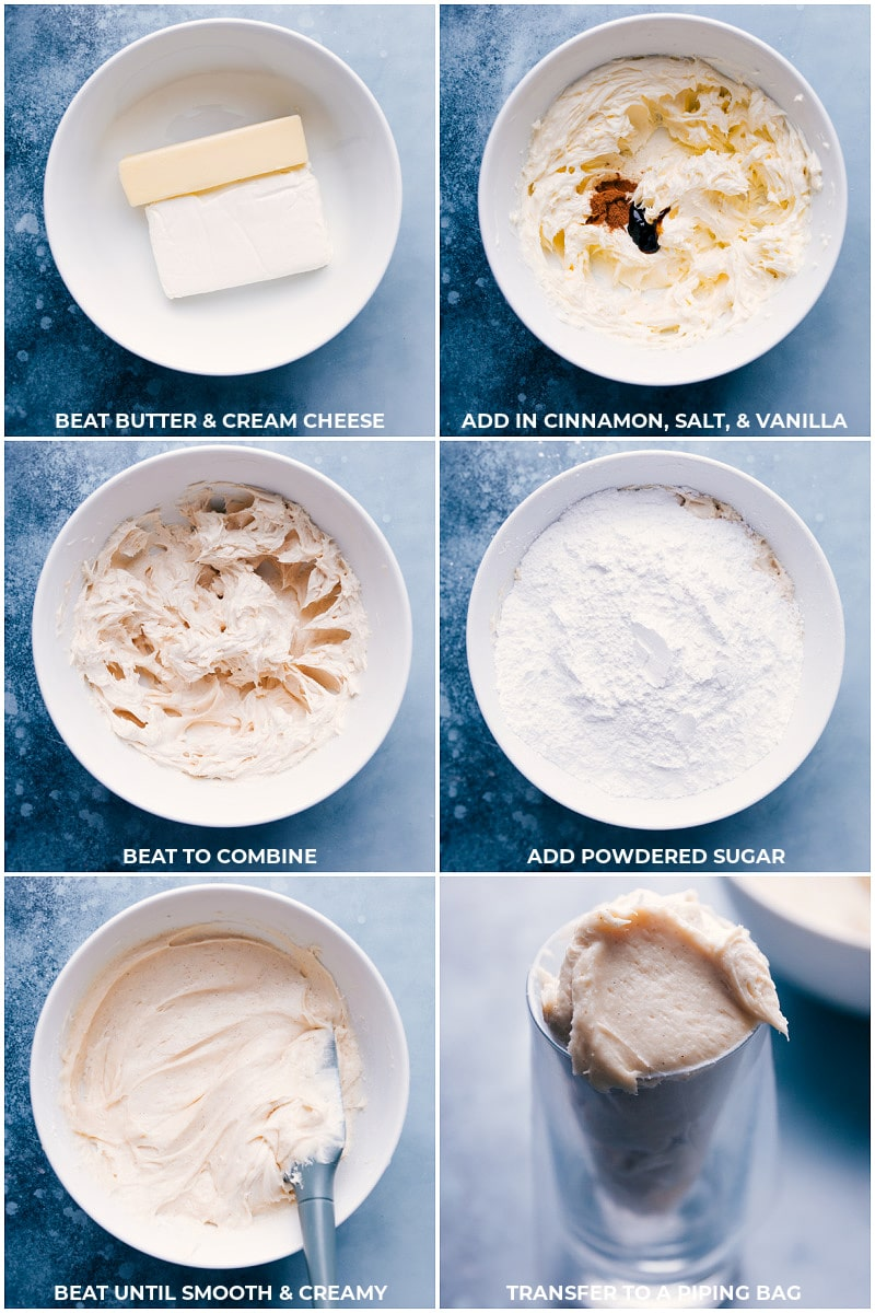 Process shots: making cream cheese frosting