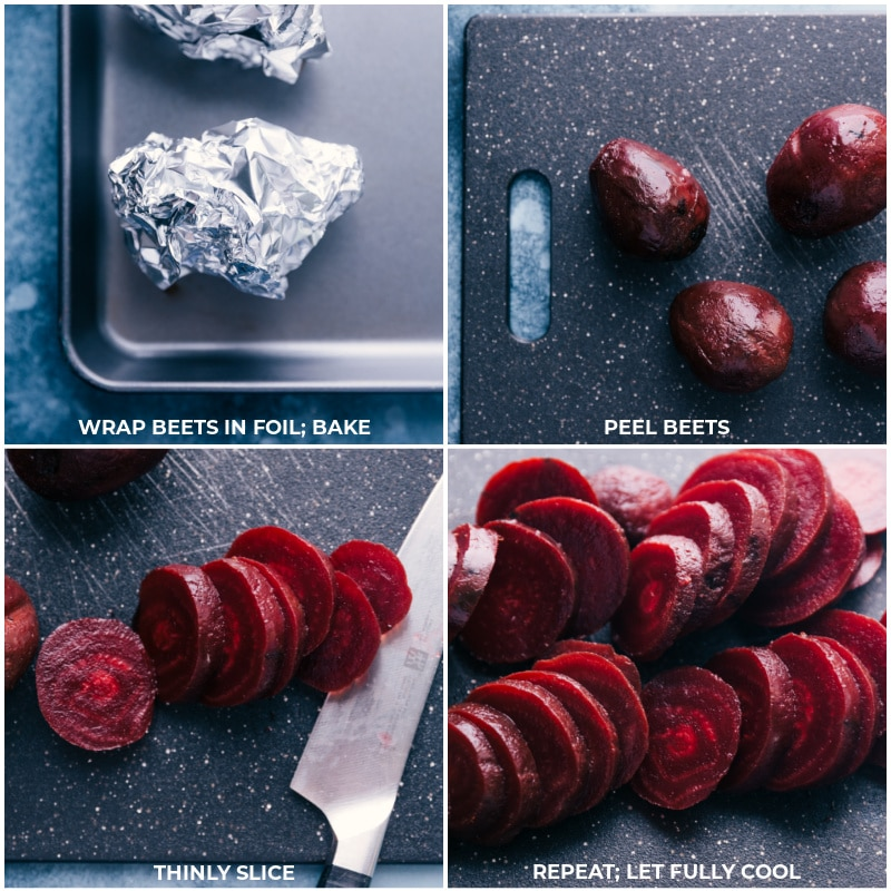 Process shots: roasting beets