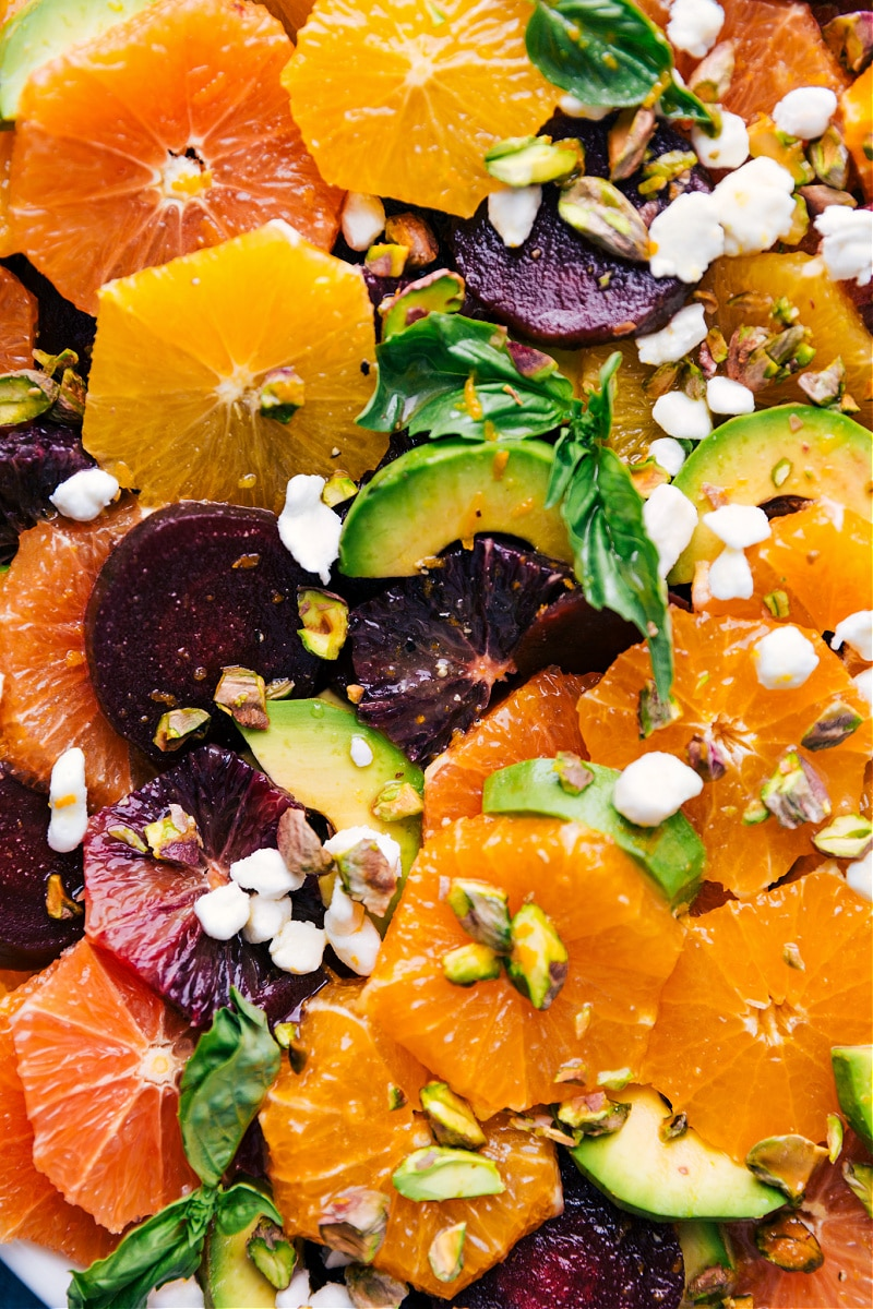 Up close overhead image of the Citrus Salad