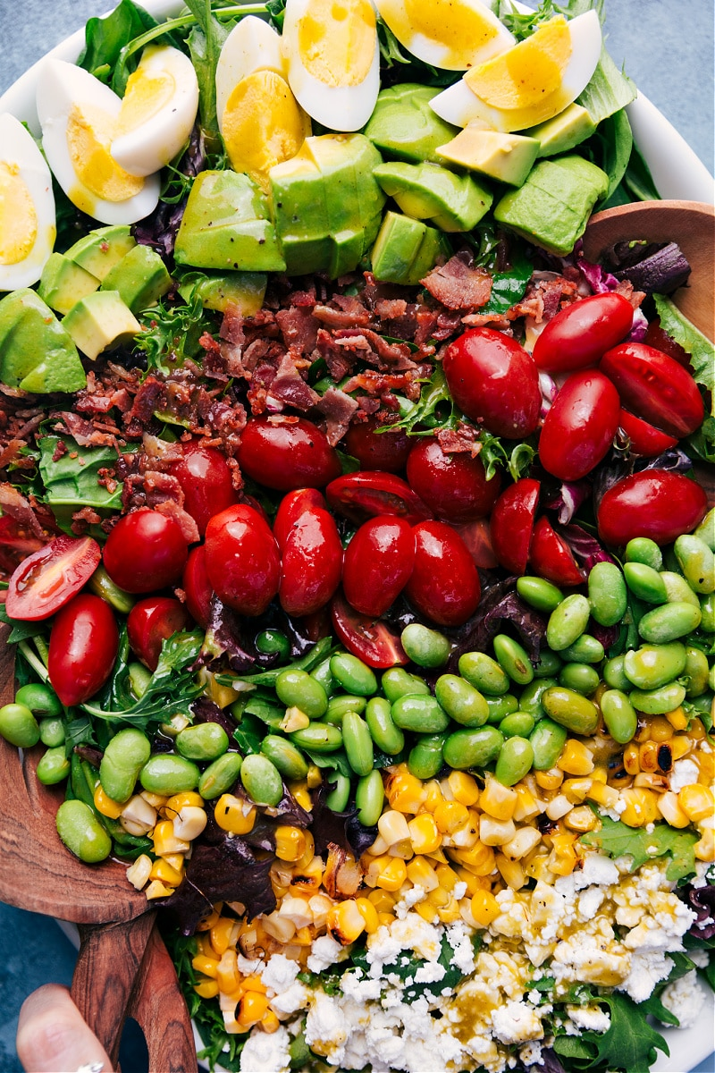 Overhead view of Cobb Salad