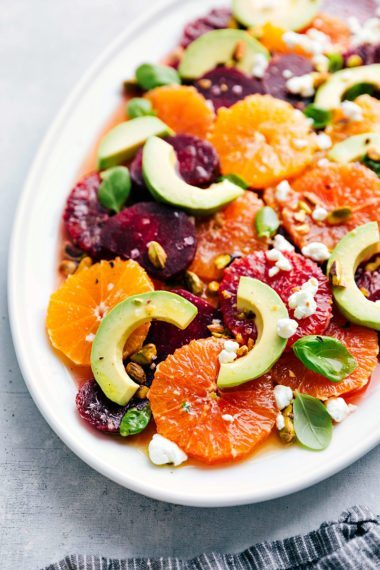 Healthy easy dinner and dessert recipes that taste great roasted beet avocado and citrus salad forumfinder Images