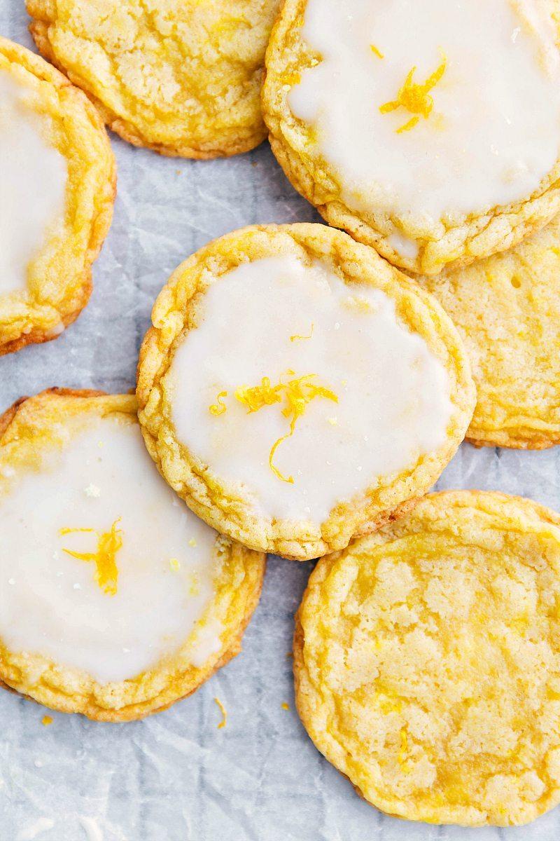The best ever lemon cookies with a simple lemon glaze