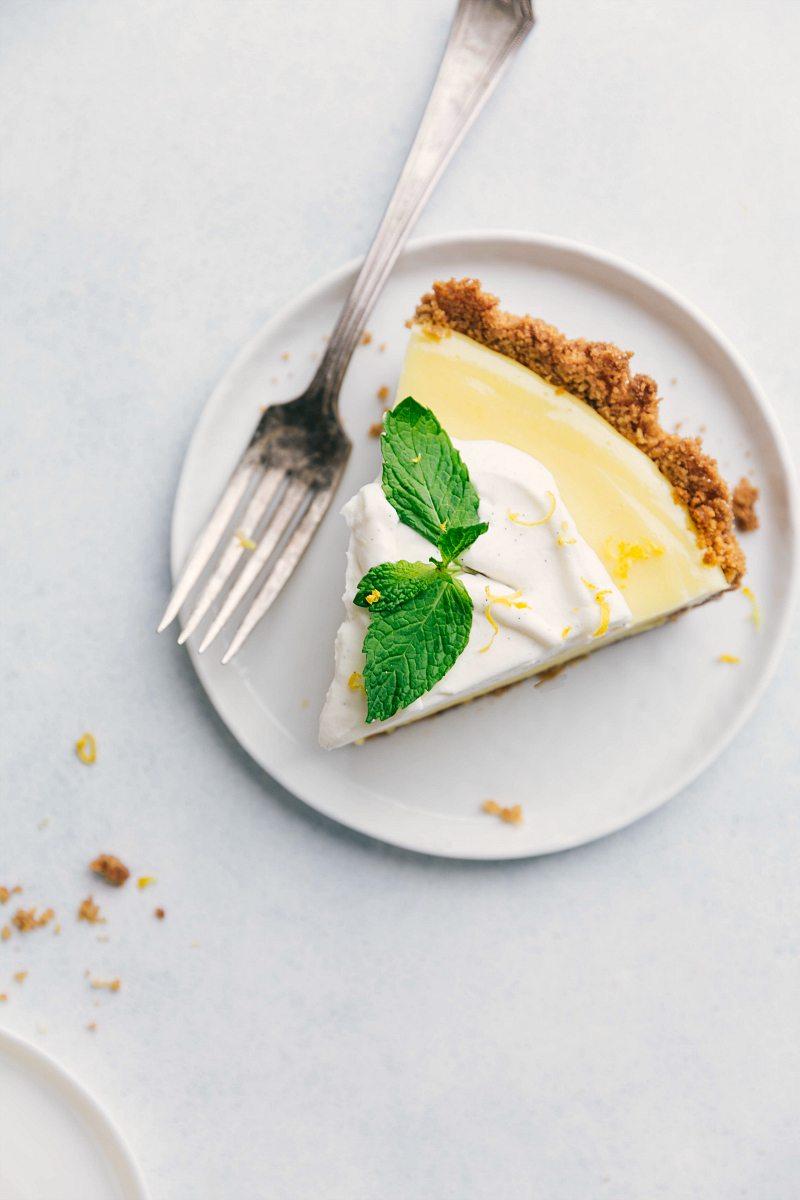 Overhead image of the Lemon Pie slice