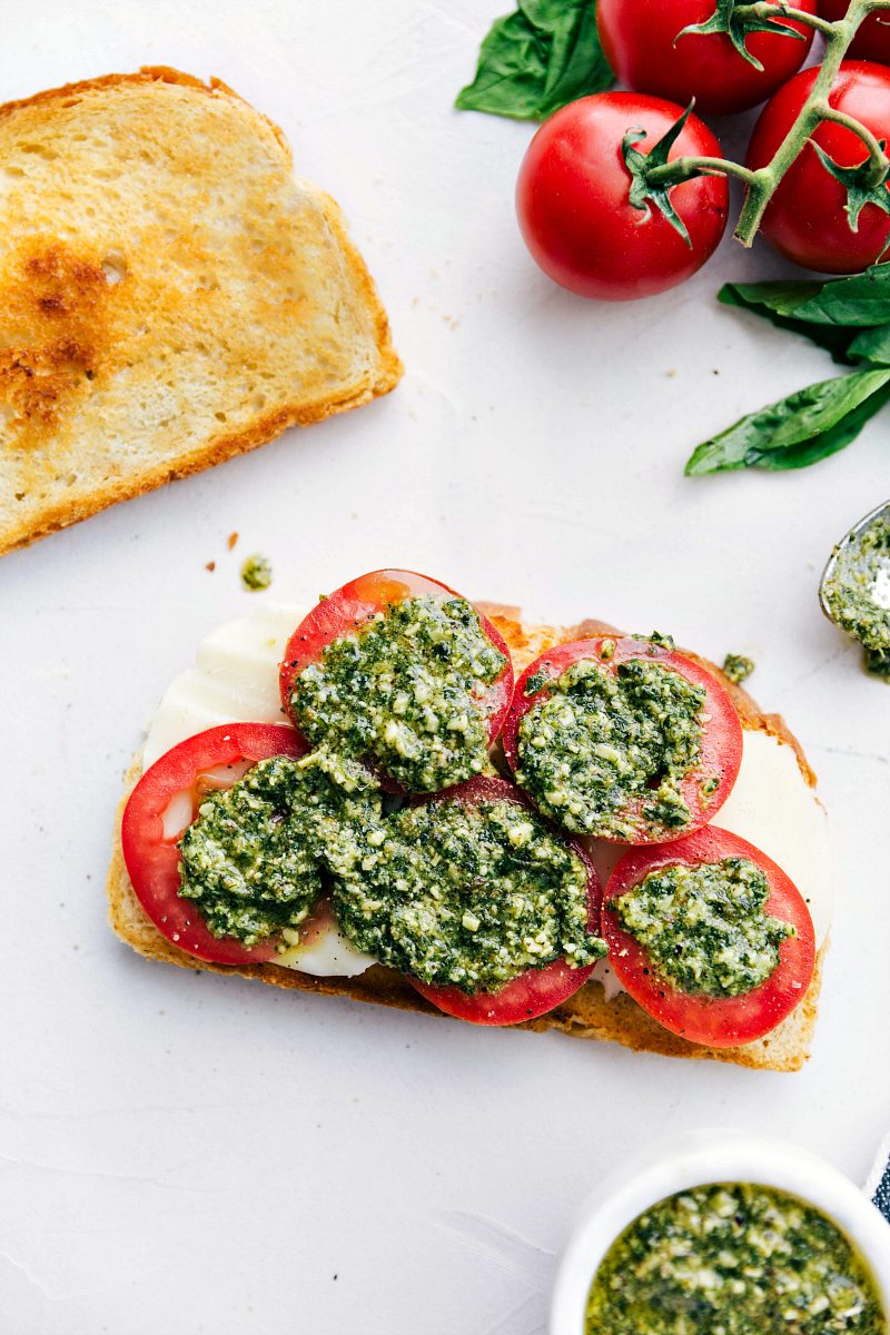 Margherita Grilled Cheese | Chelsea's Messy Apron