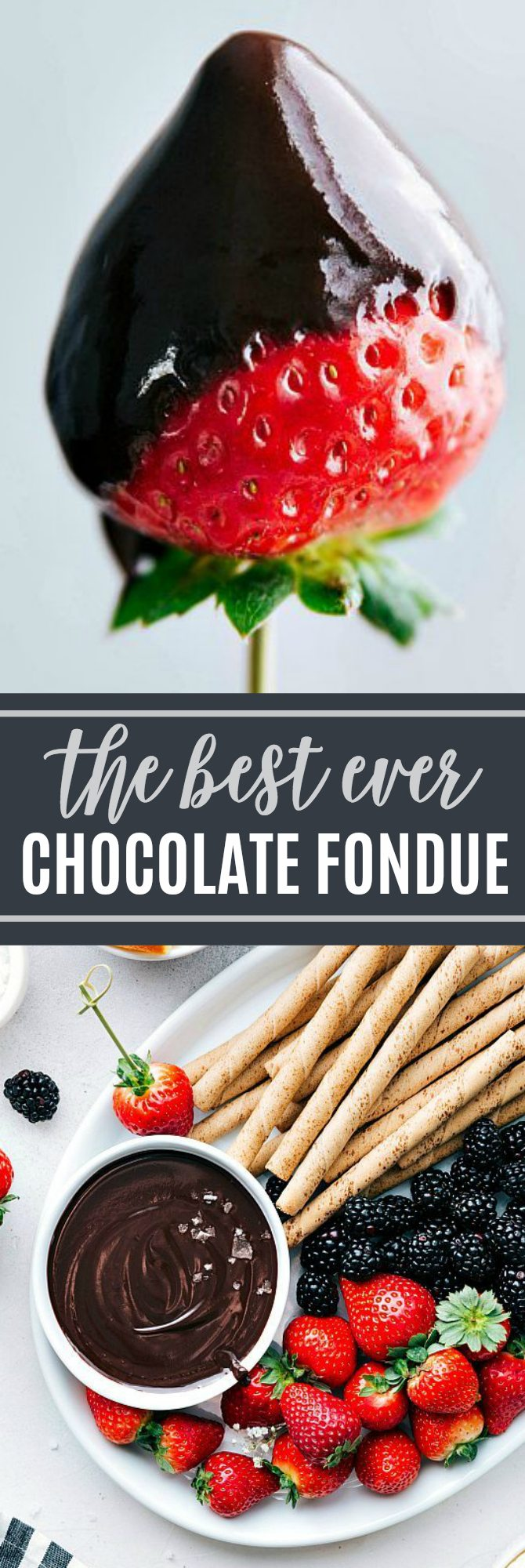The ultimate BEST EVER Chocolate Foundue! A super easy and quick ONE DISH dessert that is completely kid friendly! via chelseasmessyapron.com #fondue #chocolate #easy #quick #dessert #treat #party #event