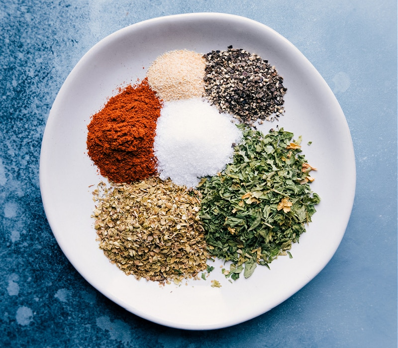 Image of the seasonings used in this dish
