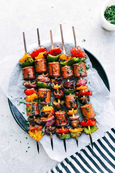 Veggie & Sausage Kabobs