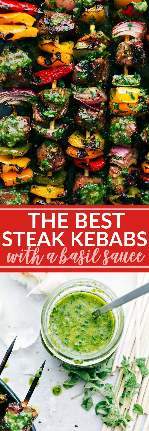 Thick cut pieces of steak are marinated in a flavorful blend of ingredients and then skewered with peppers and onion and thengrilledto perfection to bring you the best steak kebabs! via chelseasmessyapron.com
