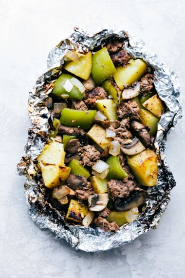 Foil Pack Philly Cheesesteak Dinners