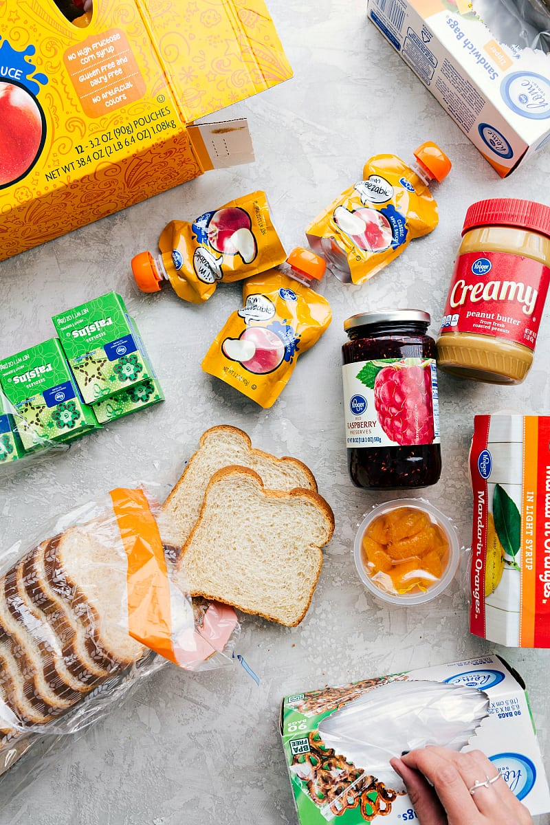 One trip to your local grocery store and you can make enough healthy school lunches to last for a month!