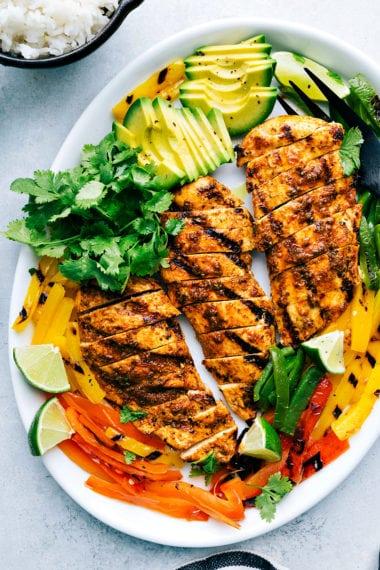The BEST Grilled Fajita Chicken