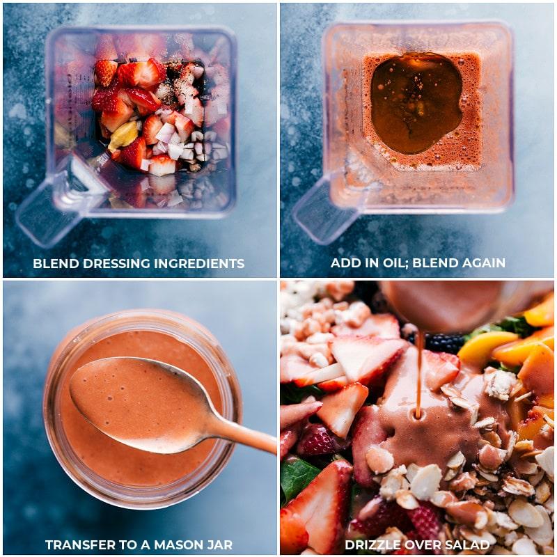 Process shots: Making Strawberry Balsamic Vinaigrette