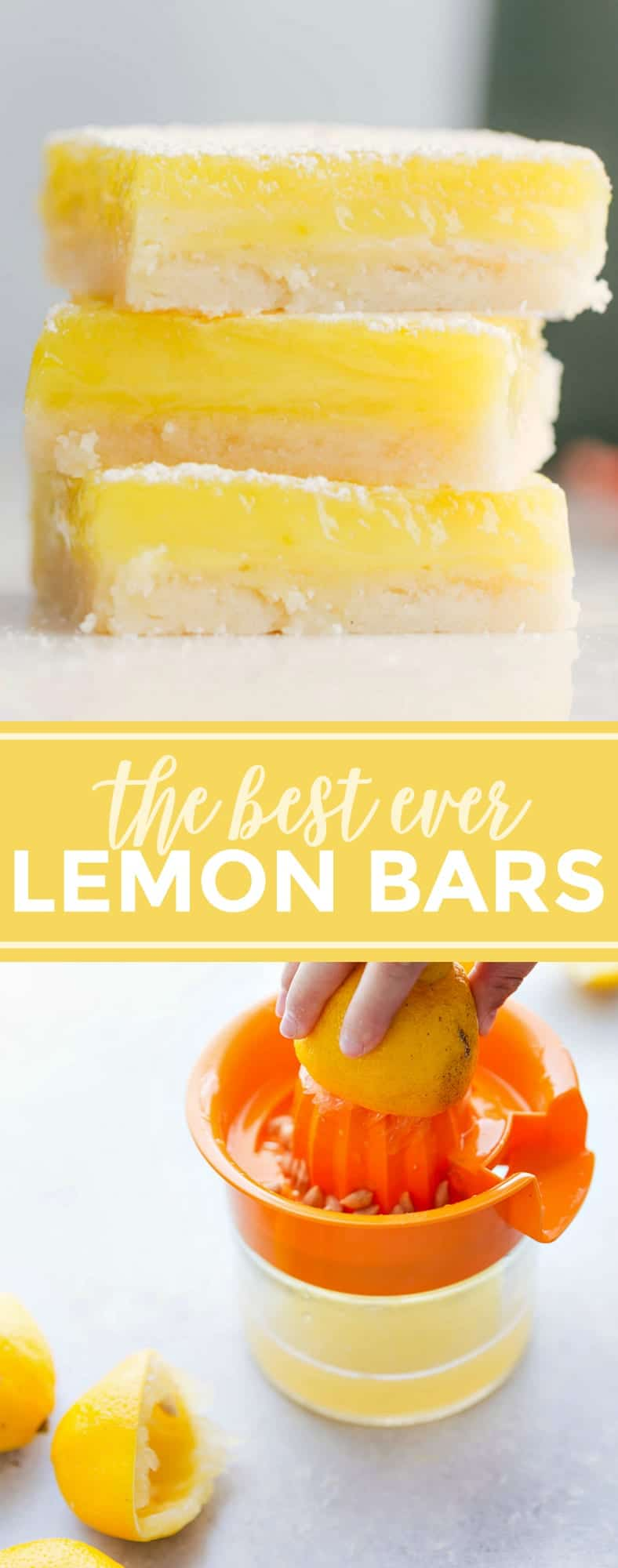 The ultimate BEST EVER Lemon Bars! These bars have tons of tangy lemon flavor and a simple shortbread crust via chelseasmessyapron.com #lemon #bars #squares #dessert #easy #quick #kidfriendly #delicious