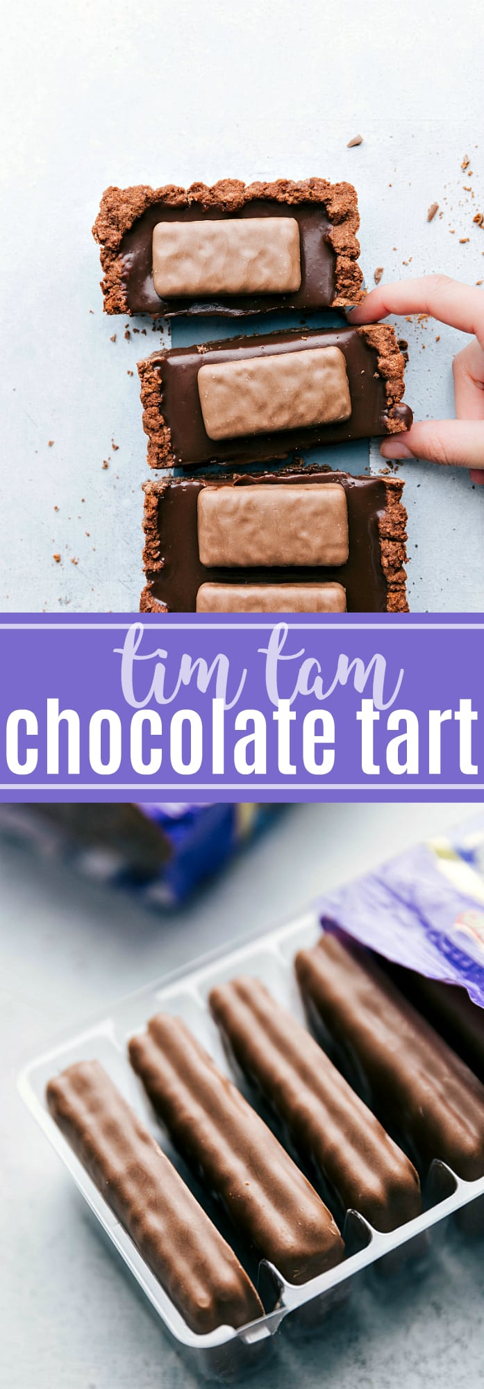 A classic summer recipe reinvented: no-bake chocolate tart with Tim Tam® biscuits! via chelseasmessyapron.com #chocolate #tart #desserts #dessert #easy #quick