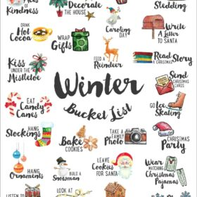 FREE Winter Bucket List