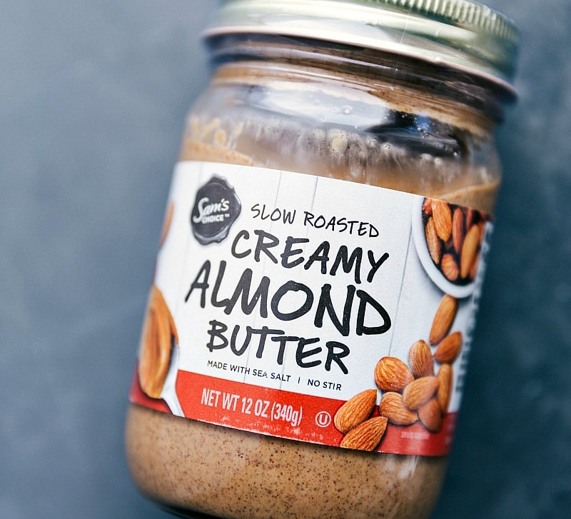 Image of the almond butter used in this Healthy Caramel Sauce