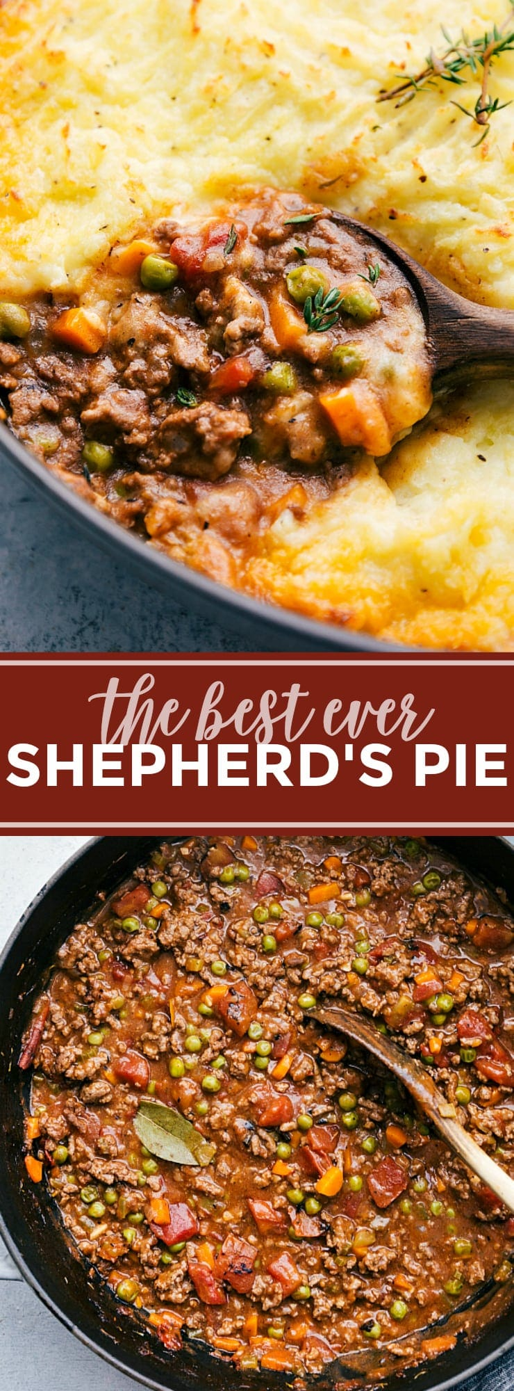 The ultimate BEST EVER Shepherd's Pie! A delicious and simple dinner! via chelseasmessyapron.com #shepherd #pie #dinner #casserole #easy #quick #holiday #leftover #leftovers #beef #gravy #vegetables #healthy #potatoes #mashed #kidfriendly