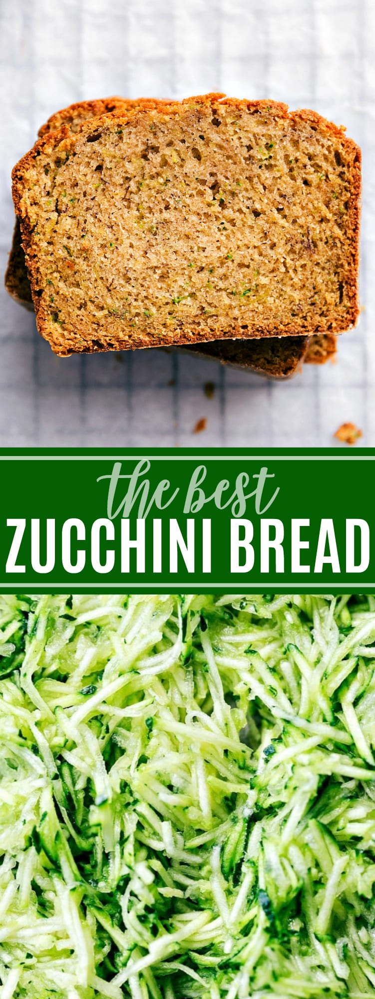 This zucchini bread was catered at my wedding and it was the FIRST treat to go with dozens of people asking for the recipe! Truly the best and so simple! via chelseasmessyapron.com #zucchini #bread #easy #quick #quickbread #dessert #treat #summer #garden