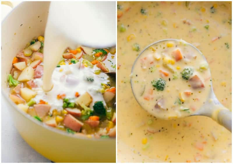 Delicious creamy Creamy Vegetable Soup
