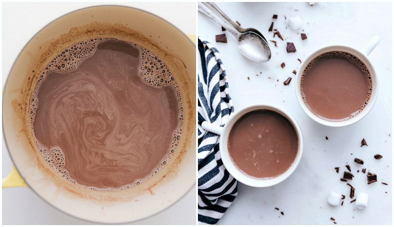 Hot Chocolate in mugs