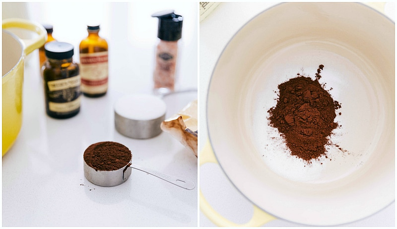 cocoa powder used for hot chocolate recipe