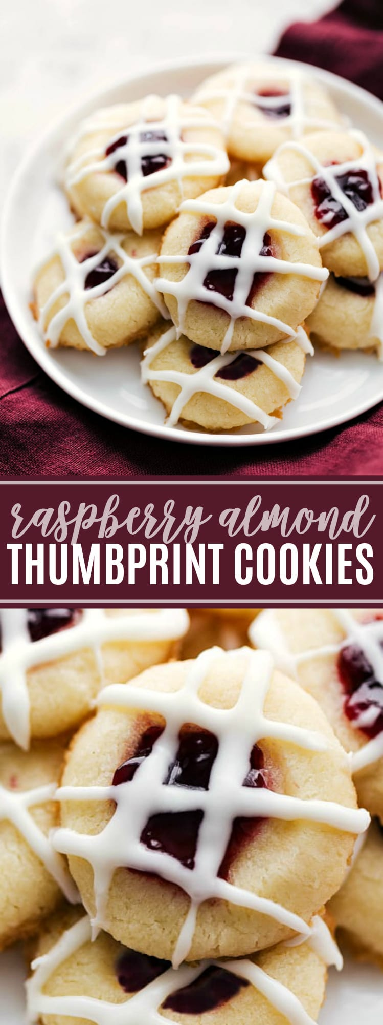 Amazing raspberry-filled and almond-flavored shortbread thumbprint cookies. These jam thumbprint cookies are irresistiblygood and perfect for a holiday cookie platter! Plus I'm sharing all my secrets to making these cookies the best - from what jam to use, to when to chill them, and rolling the cookies in sugar before baking. via chelseasmessyapron.com #raspberry #almond #thumbprint #cookie #cookies #recipe #christmas #exchange #dessert #easy