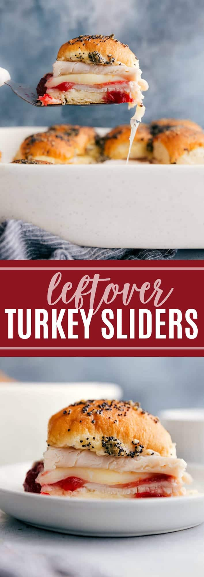 The ultimate BEST EVER turkey sliders using Thanksgiving leftovers! via chelseasmessyapron.com #slider #thanksgiving #leftover #recipe #recipes #easy #quick #sliders #party #appetizer #turkey #cranberry #rolls