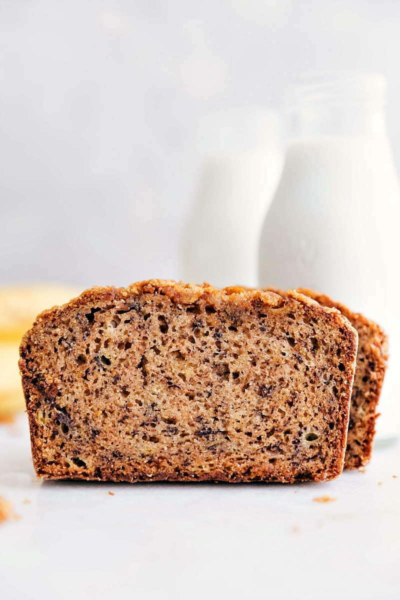 Image of finished, ready to eat, award winning banana bread recipe