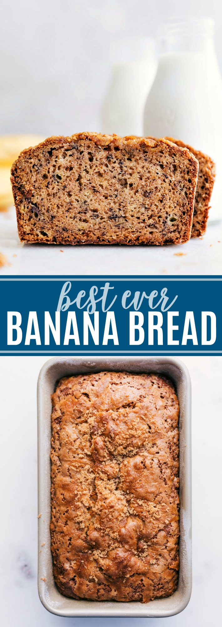This moist, flavorful, & delicious easy banana bread recipe is a family favorite! All my top tips and tricks to perfect banana bread everytime! via chelseasmessyapron.com #banana #bread #easy #quick #best #recipe #dessert #snack #kid #friendly #cinnamon