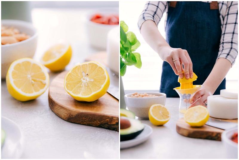 Lemons being juiced