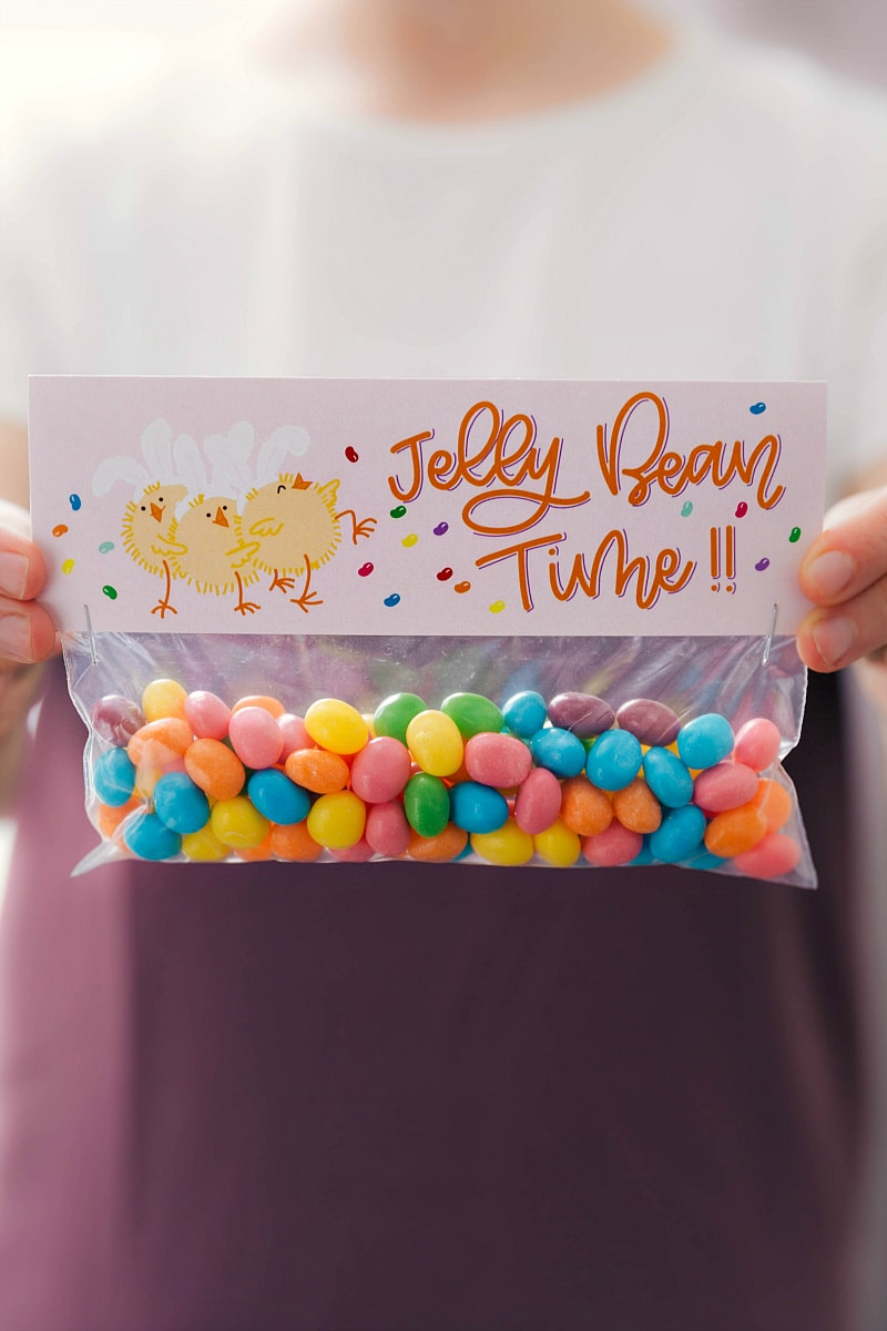 Jelly bean time bag topper