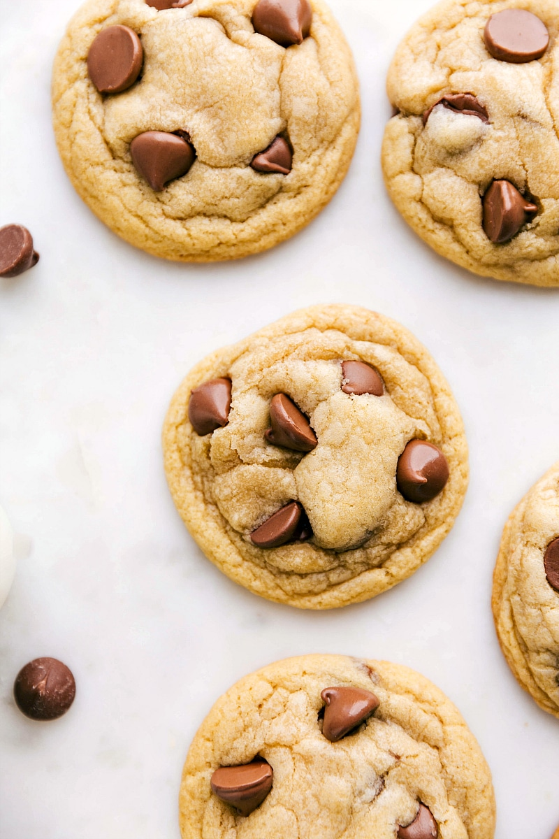 Image of the ready to eat baked chewy chocolate chip cookies