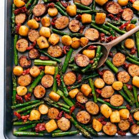 One-Pan Potatoes and Sausage